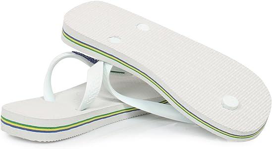 Havaianas Brasil Logo, Chanclas Unisex Adulto, Blanco (White), 33/34 EU: Amazon.es: Zapatos y complementos