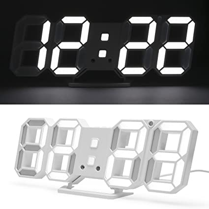 LED reloj Digital 3d de LED de mesa Reloj, Reloj de pared, intensidad regulable
