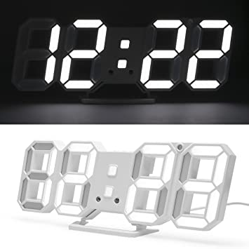 LED reloj Digital 3d de LED de mesa Reloj, Reloj de pared, intensidad regulable, despertador: Amazon.es: Hogar