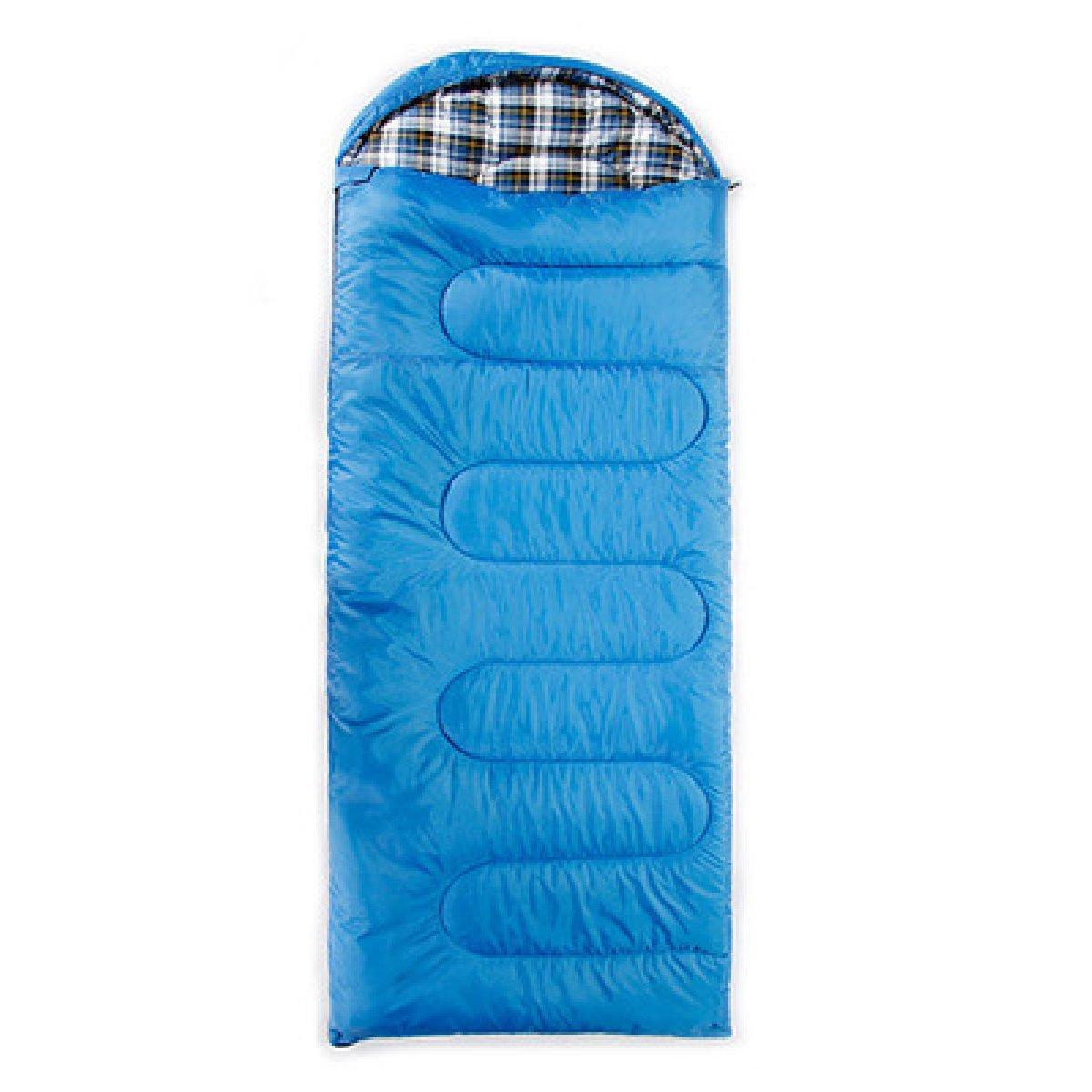 Xin Su Envelope Se Puede Empalmar Saco De Dormir Acampar Al Aire Libre Senderismo Almuerzo En El Interior Saco De Dormir Multifuncional (azul Y Verde),Blue-(190+30)*85cm Blue-(190+30)*85cm Xin.Shang