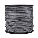 HERCULES Super Cast 100M 109 Yards Braided Fishing Line 250 LB Test for Saltwater Freshwater PE Braid Fish Lines Superline 8 Strands - Grey, 250LB (113.4KG), 1.00MM