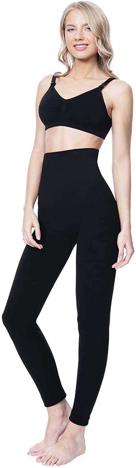 MOTHERS ESSENTIALS High Waist Tummy Compression Control Slimming Leggings