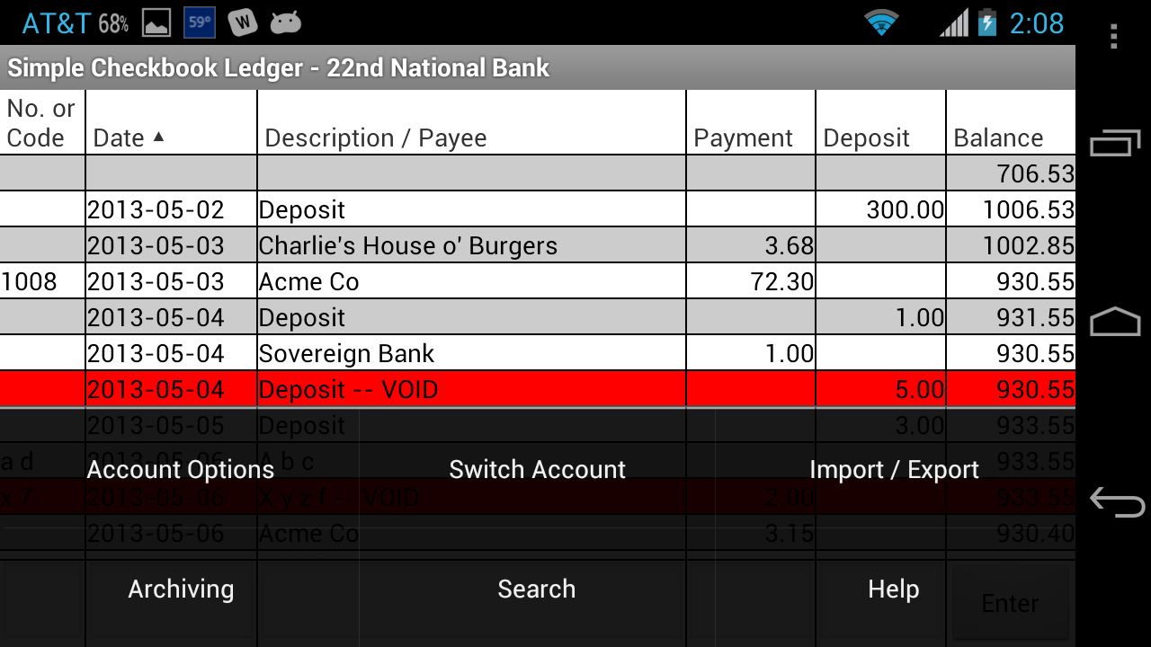 amazon com simple checkbook ledger free appstore for android