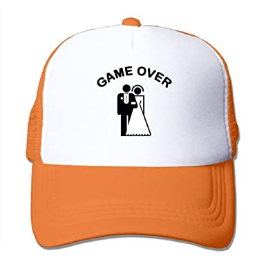 4f59b0b0277 Image Unavailable. Image not available for. Color  Custom Game Over  Bachelor Party Mens Snapback Cap Sun Baseball Hats Fit Most