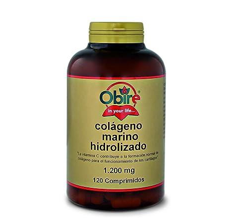 Colágeno marino hidrolizado 1.200 mg. 120 comprimidos con magnesio, ácido hialurónico y vitaminas C