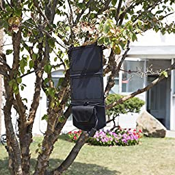 Ivation Portable Foldable Solar Charging Panel, IPX4 - High-Efficiency Up to 400% More Powerful UV-Protected Mobile Device Storage Pocket