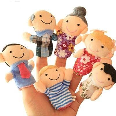 Biuday 6 Unids Juguete de Peluche para niños Juguete Interactivo Lindo de Dedo de Dibujos Animados Entre Padres e Hijos Marionetas de Dedos: Hogar
