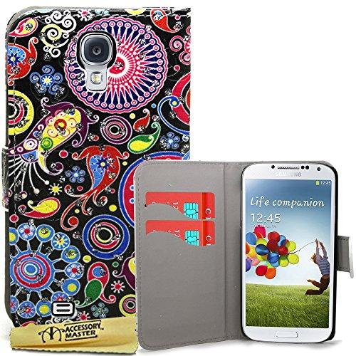Accesorio Master-libro caja de la carpeta de cuero para Samsung i9500 Galaxy S4 - Diamantes Cabina de teléfonos roja de Londres s4 medusas (con ventana)