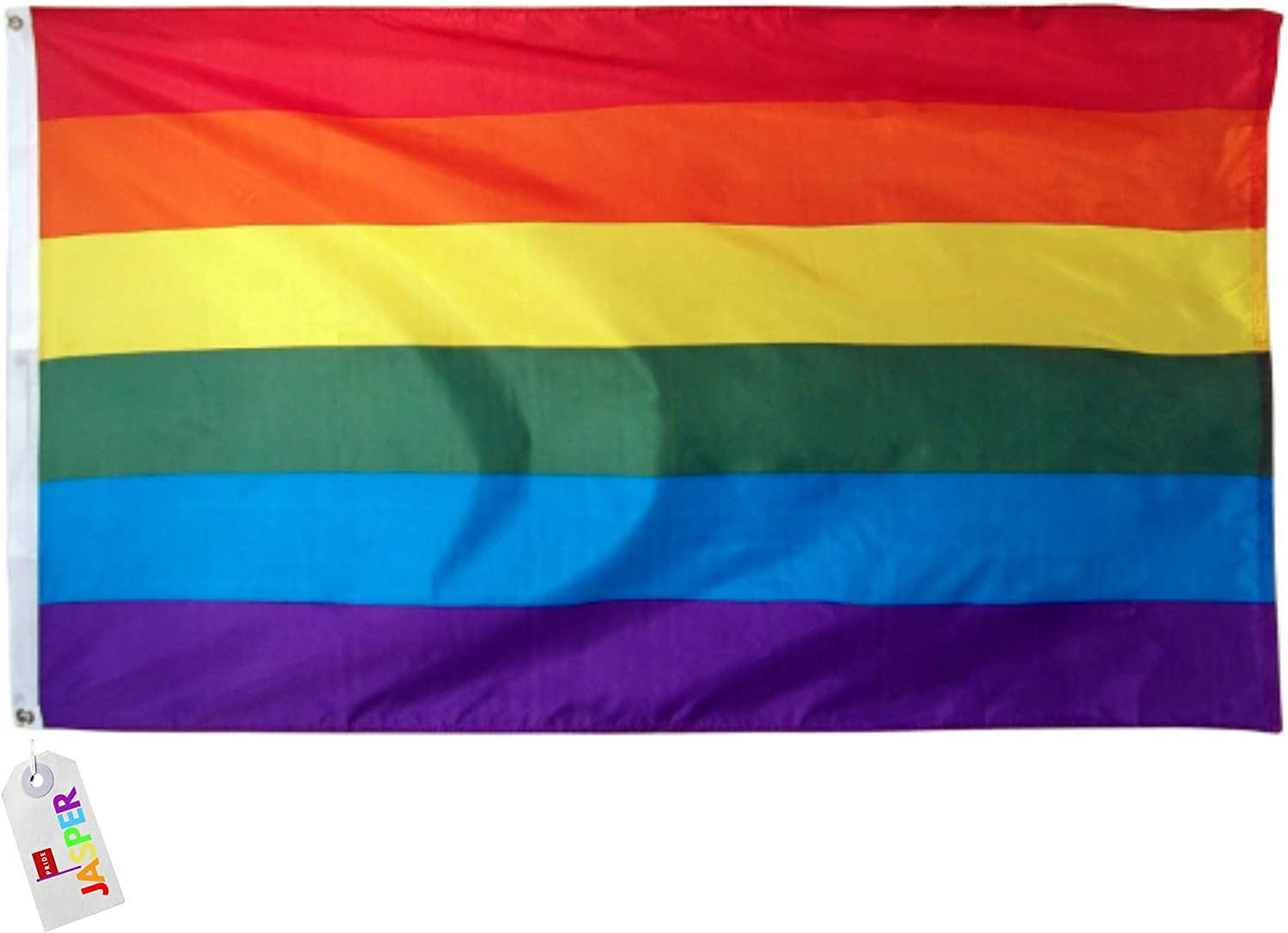 Rainbow Pride Gay Flag 3x5 Feet 36 X 60 Inches 100 Polyester With Two Metal Grommets Flagpole Lgbt Garden Outdoor Amazon Com