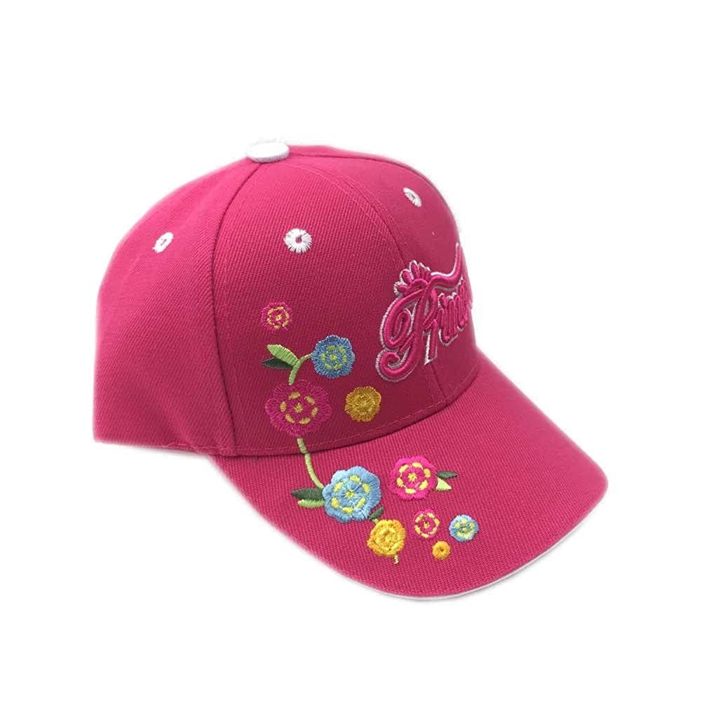 Aesthetinc Embroidered Princess Flowers Junior Kids Baseball Cap Hat