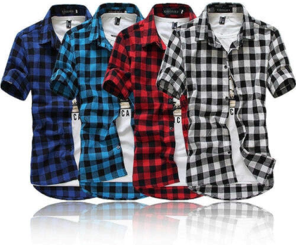 Camisa a Cuadros roja y Negra Camisa para Hombre Camisa a ...