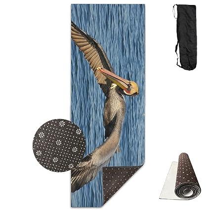 Amazon.com: Unisex Fitness Yoga Mat Sea Ocean Pelican Unique ...