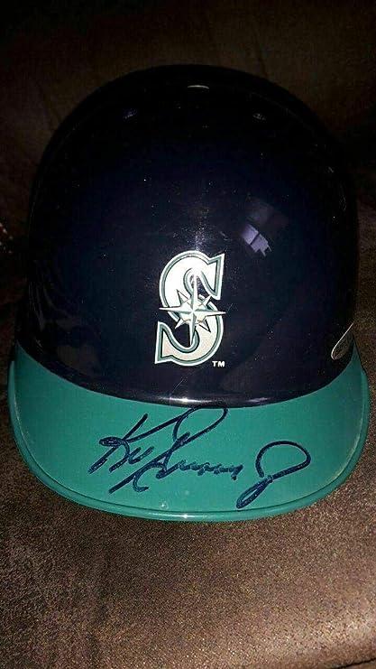 6b20adeceae85 Amazon.com: Ken Griffey Jr Signed Seattle Mariners Mini Helmet ...