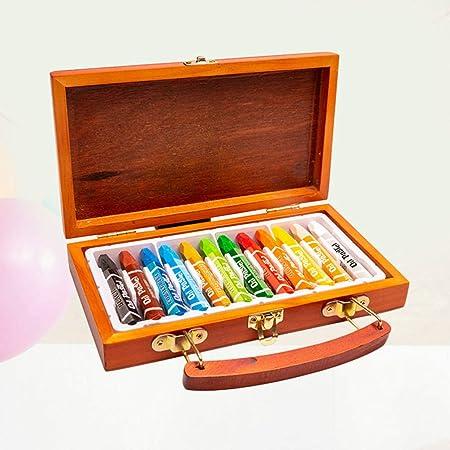 STOBOK Crayón de 12 Colores con Estuche de Madera portátil lápices para niños Pintura lápices de Colores lápices de Colores para Estudiantes: Amazon.es: Juguetes y juegos