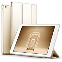 """for Apple iPad Air 1st Air 1 (9.7"""" 2017) Ultra Slim Smart Case Folio with (Translucent Back) Stand Flip Cover case FREE With USB Led Light and glossy screen guard For Apple iPad Air 1st Air 1 (9.7"""" 2017) Models. iPad Air 1 A1474 , A1475 , A1476 / (gold)"""