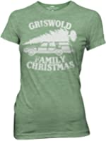 National Lampoon Griswold Family Christmas Vacation Heather Green Juniors T-shirt