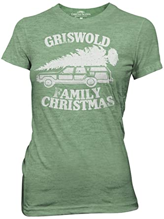 national lampoon griswold family christmas vacation heather green juniors t shirt small green