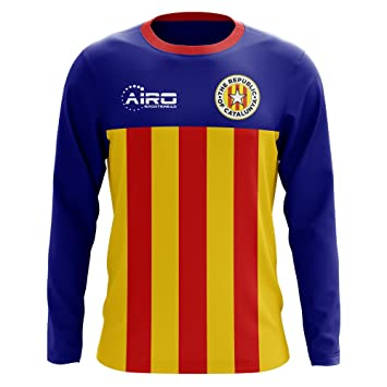 Airo Sportswear 2018-2019 Catalunya Long Sleeve Home Concept Football  Soccer T-Shirt  Amazon.co.uk  Sports   Outdoors 8f3cf6fc0