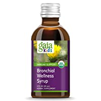 Gaia Herbs, GaiaKids Bronchial Wellness Syrup, Immune Health, Soothing Throat and...