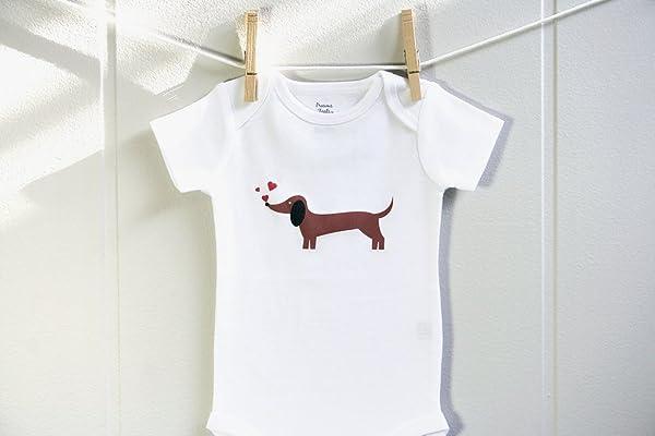 Valentine's Dachshund Boy Girl Baby Clothes Bodysuit, Boy Girl One Piece Short Long Sleeve 3 - 18 Months