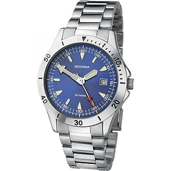 c6fdb29f85e3 Sekonda Gents Blue Dial Silver Stainless Steel Bracelet Watch 3279: Sekonda:  Amazon.co.uk: Watches