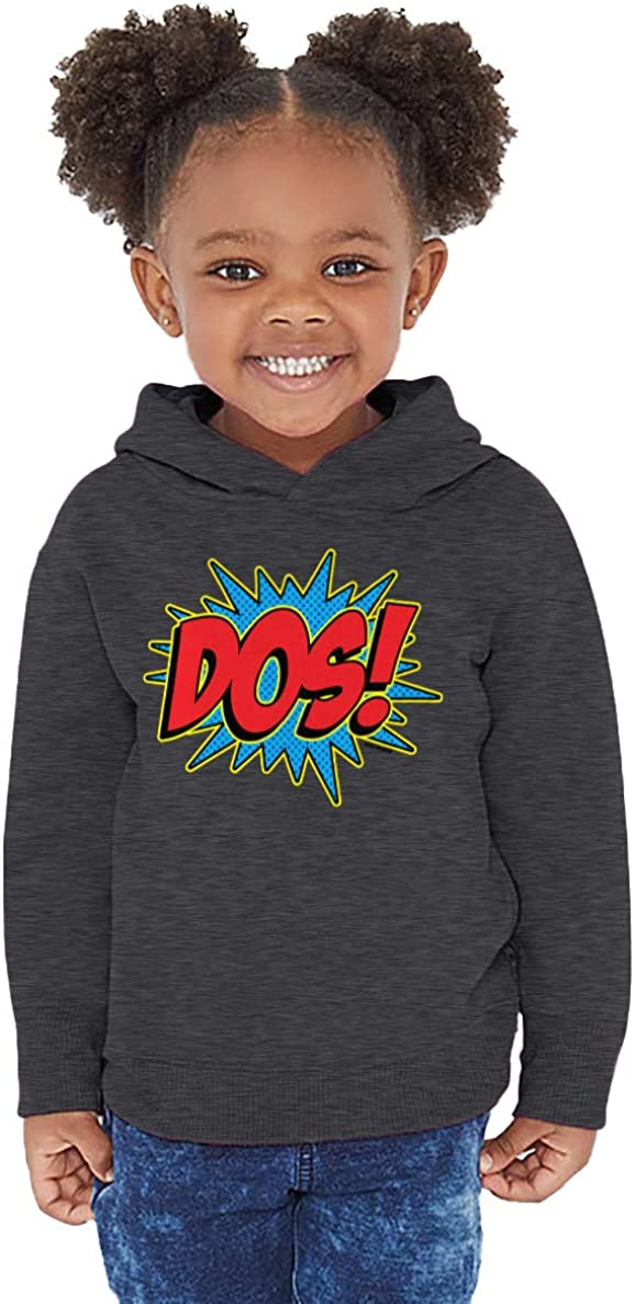 Cool Comic Birthday Toddler//Youth Fleece Hoodie Haase Unlimited Dos 2 Year Old