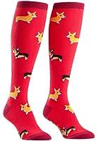 Sock It To Me Corgis Red Women's Knee High Socks