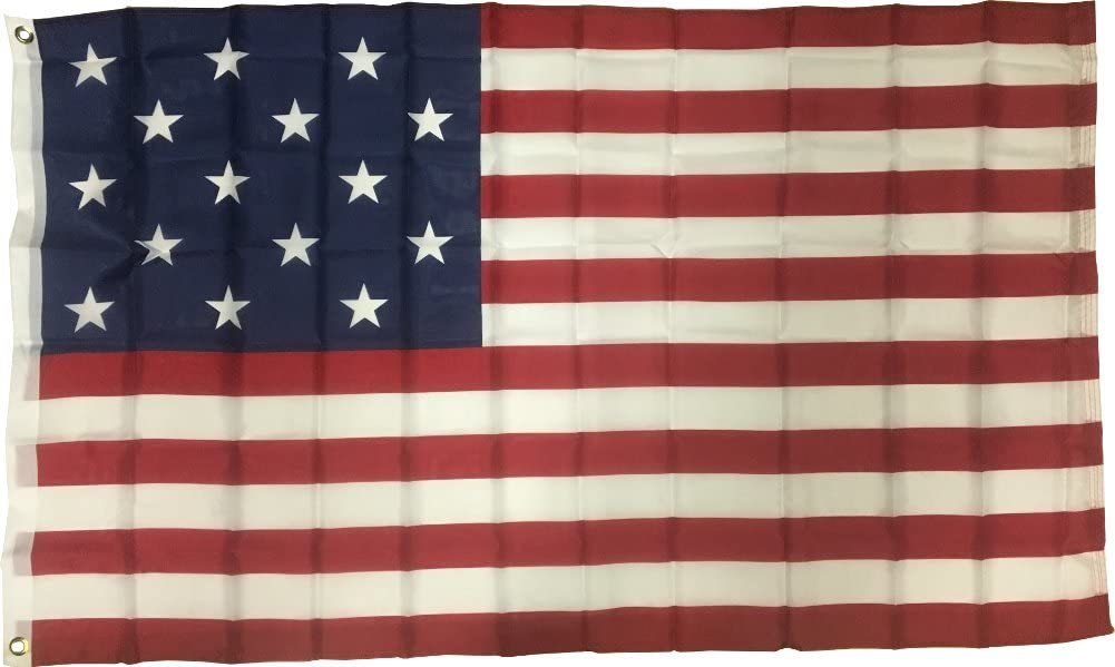 Hand Made American Flag with Star Spangled Banner