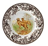 Spode Woodland Hunting Dogs Golden Retriever Dinner Plate
