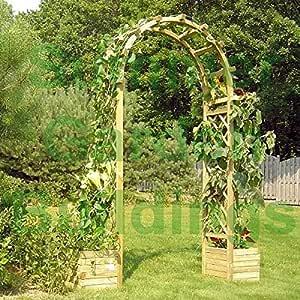 Arco de madera para jardín – Enrejado madera tratada a presión, y ...