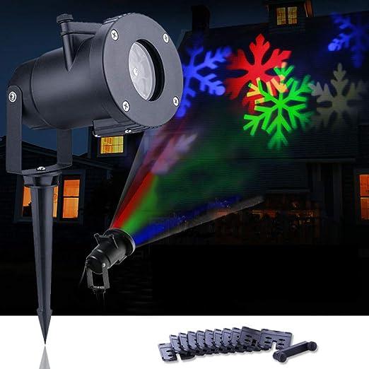 Proyector de luz, Navidad nieve luces, 12 patrones películas ...