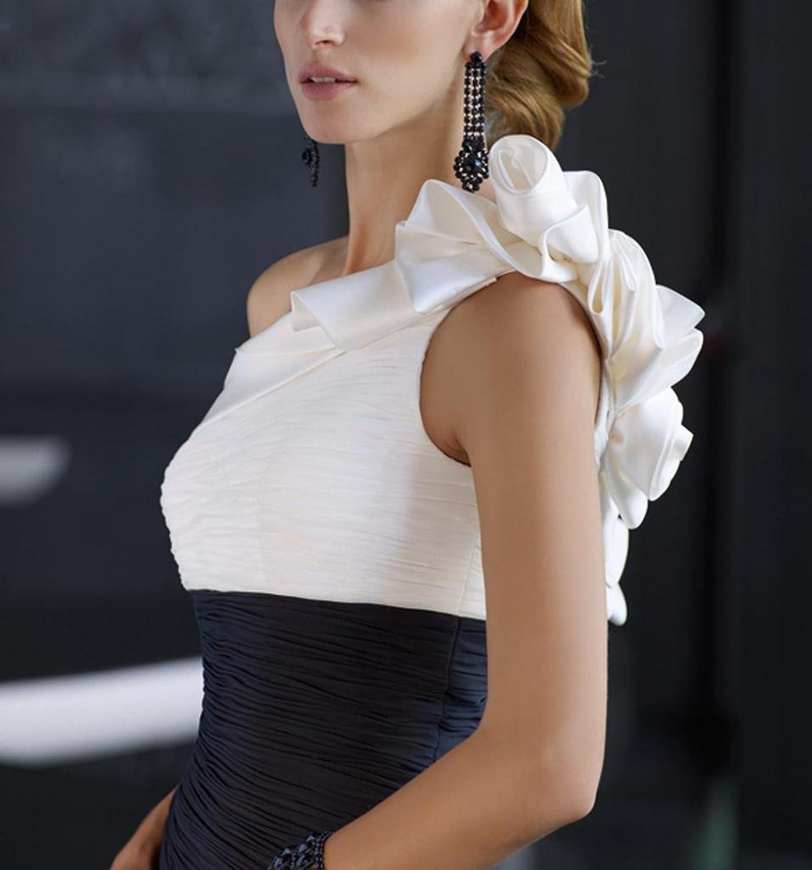 Dearta Women's Sheath One-Shoulder Floor-Length Chiffon Social Ocassion Dresses