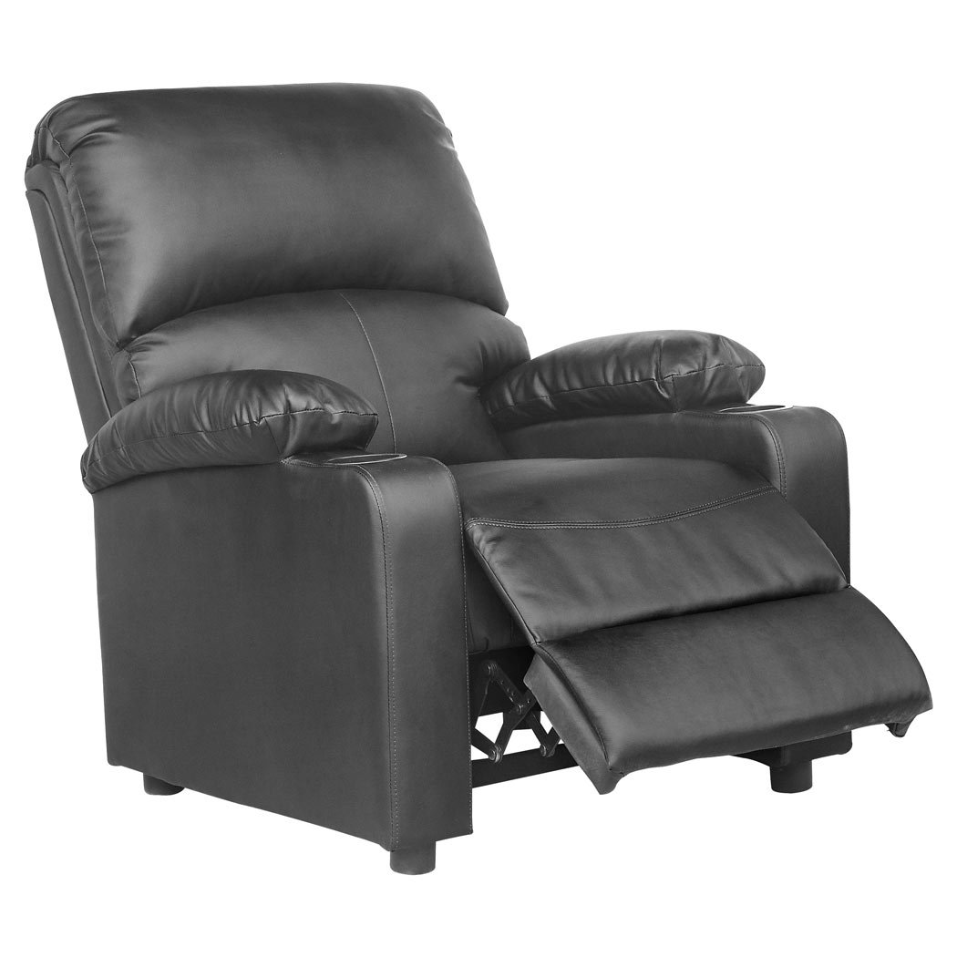 More4Homes Reclining Home Cinema Lounge Kino Leather Recliner With Drink  Holders Armchair Sofa Chair, Black: Amazon.co.uk: Kitchen U0026 Home
