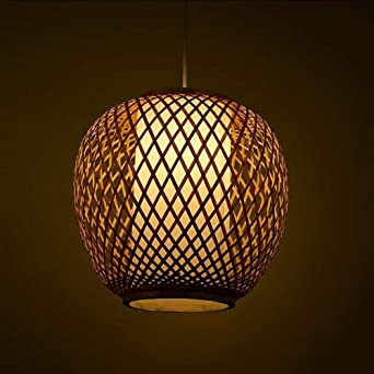 Lámparas de araña Lámpara de bambú Luz de ratán Restaurante ...
