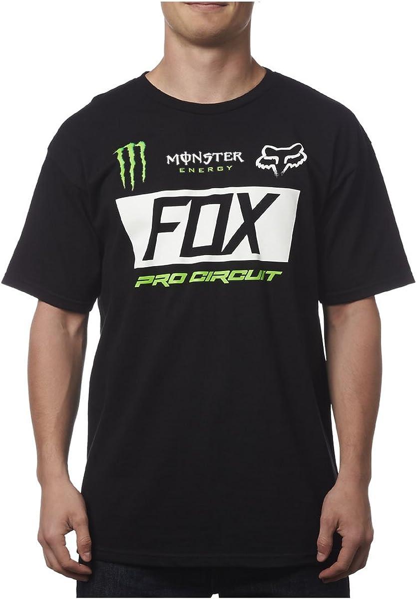 Fox Racing Mens Monster Paddock camiseta de manga corta - negro - : Amazon.es: Ropa y accesorios
