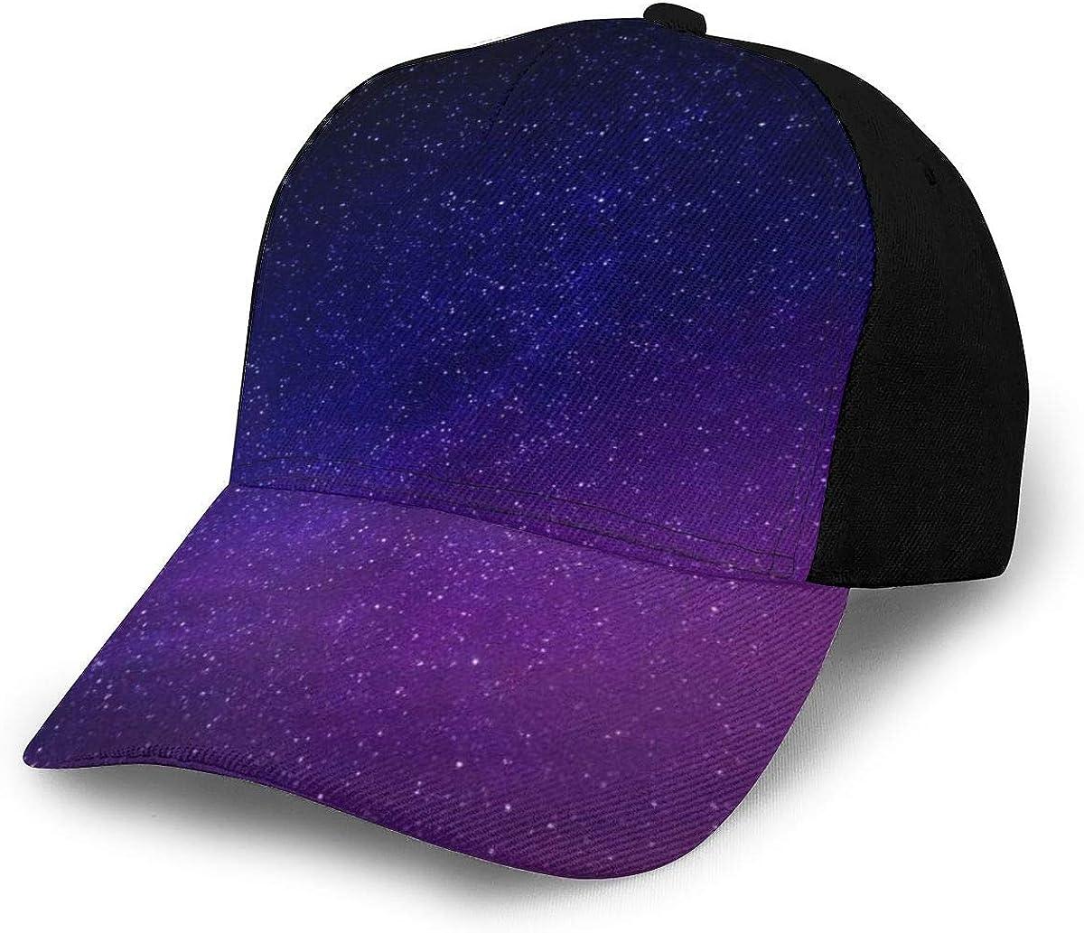 Nebula Starry Sky Galaxy Glitter Classic Baseball Cap Men Women Dad Hat Twill Adjustable Size Black
