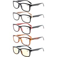 Eyekepper 5-Pack Classic Spring-Hinges Quality Reading Glasses Include Computer Readers +1.5