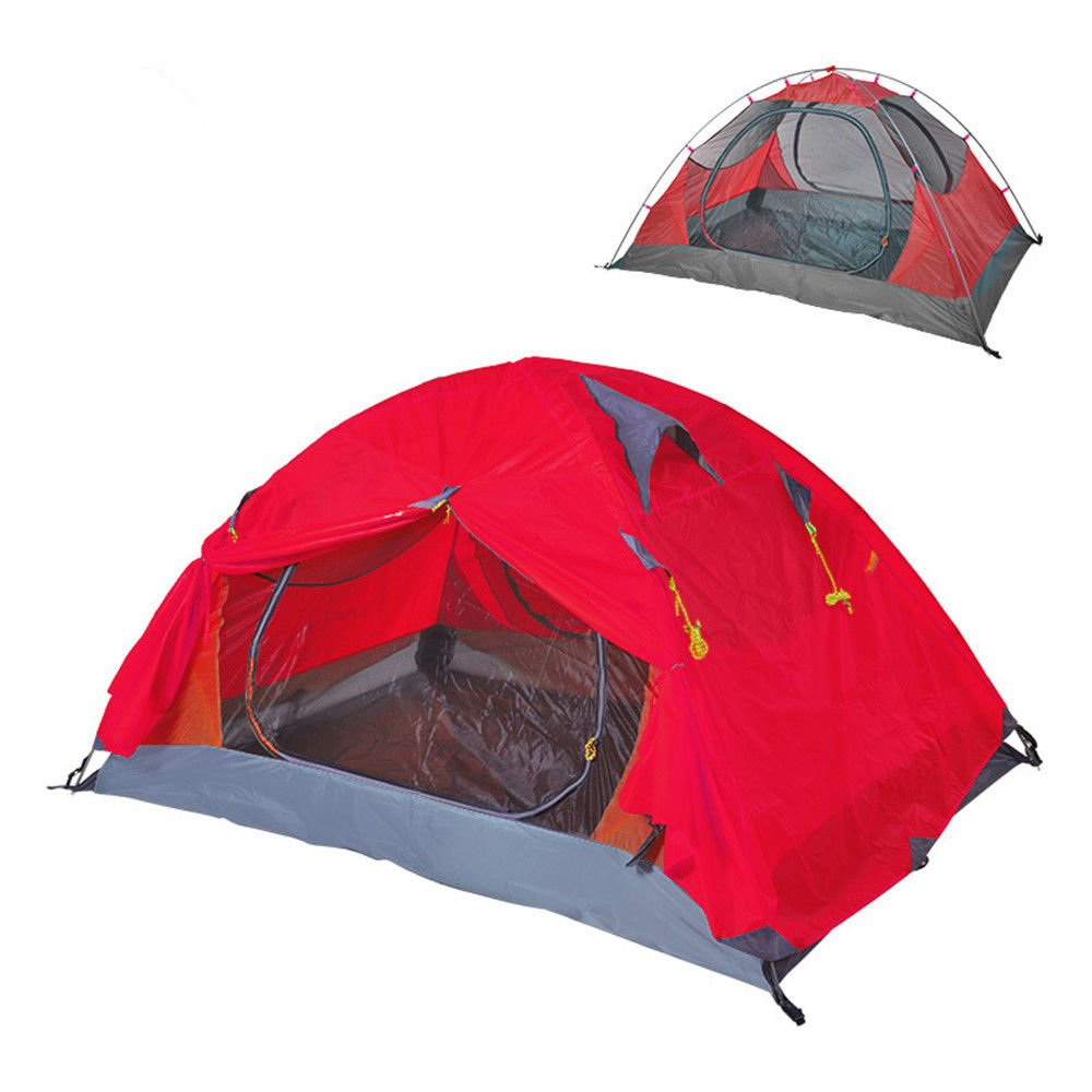 RFVBNM Zelt Outdoor Supplies Double Camping Zelt Regen Prävention professionelle Campingausrüstung, rot