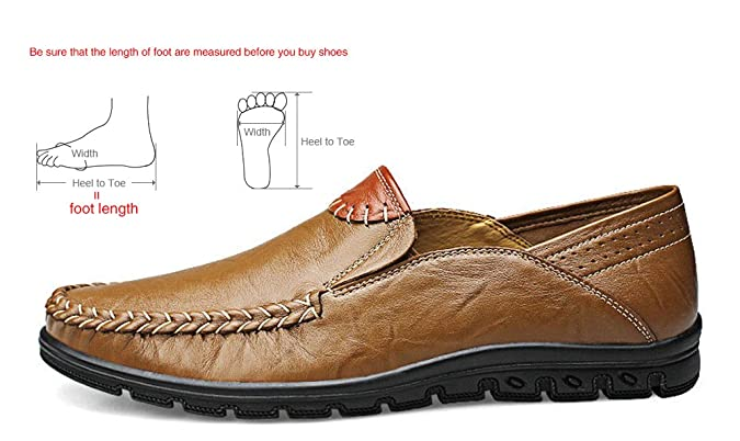 Amazon.com | Moccasins Mens Casual Shoes Handmade Loafers Genuine Leather Boat Shoes Slip On Plus Size 46 | Loafers & Slip-Ons