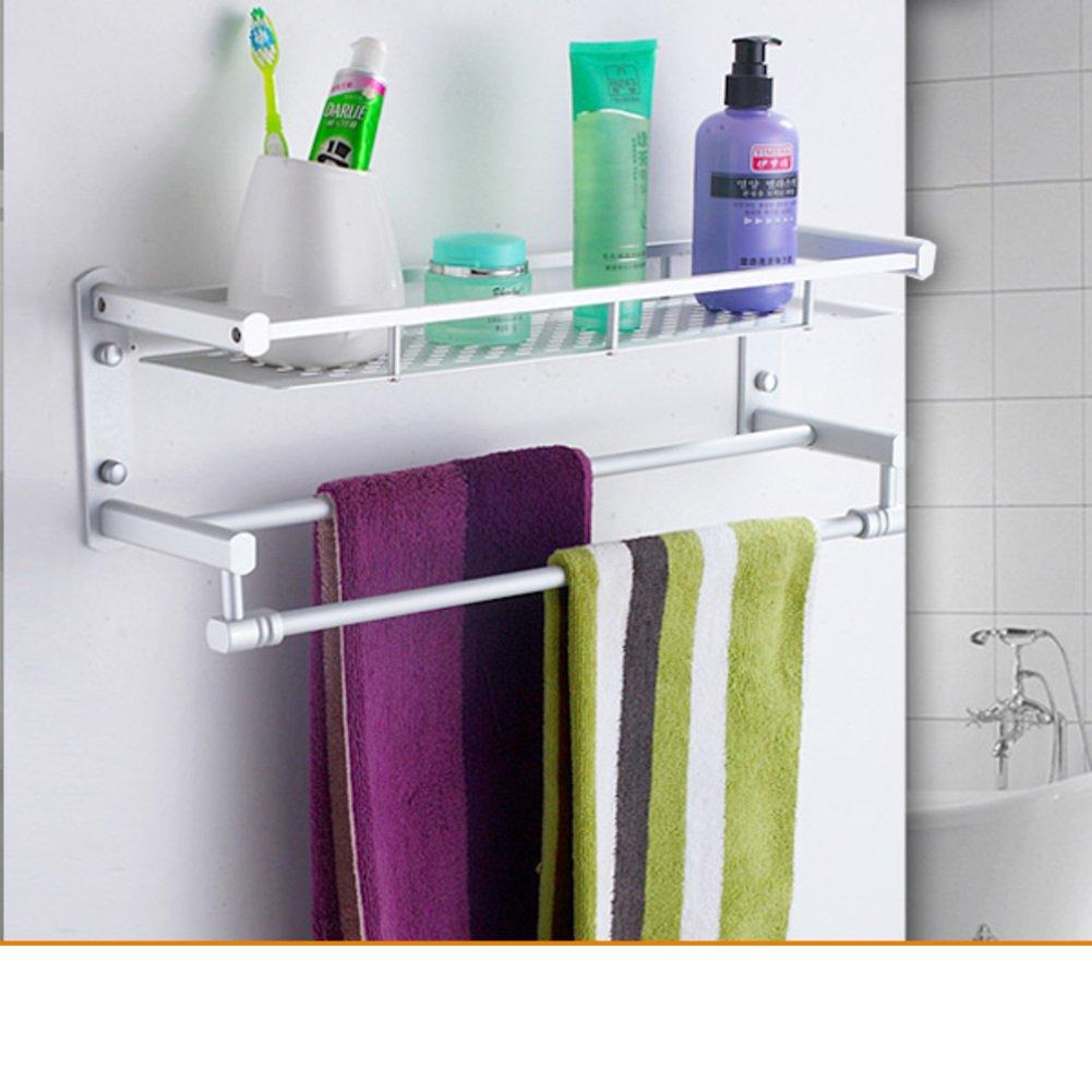 Bathroom racks space aluminum towel rack bathroom double towel rack i hot sale www - Towel racks for small spaces concept ...