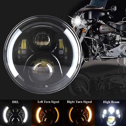 Faro redondo LED para proyector de 7 pulgadas/7 pulgadas, haz alto ...
