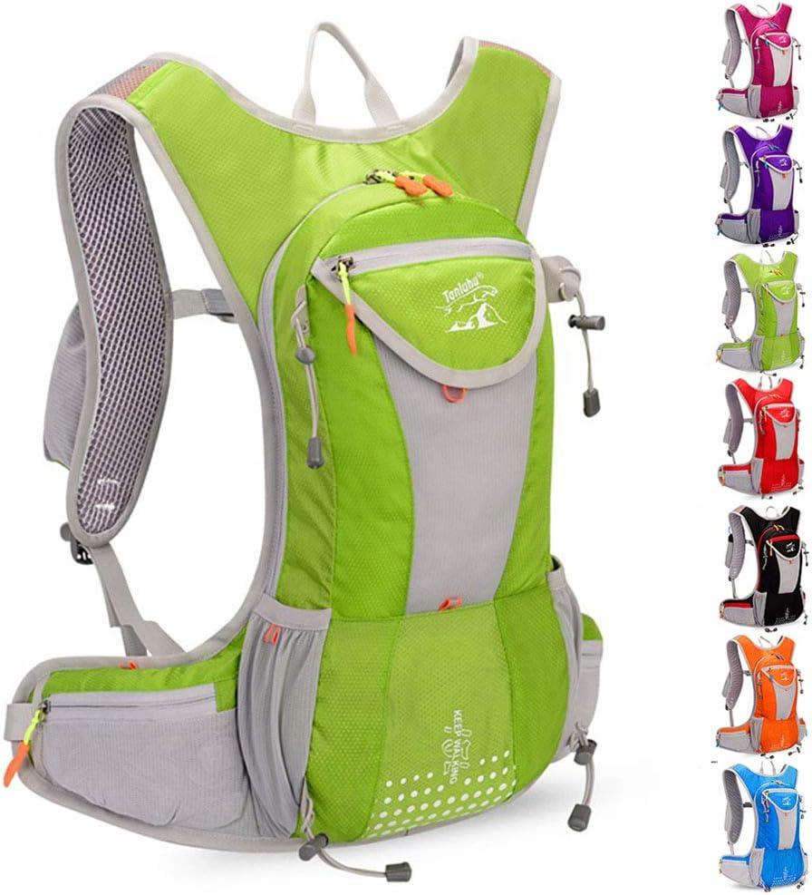 15L Outdoor-Langlaufrucksack F/ür Erwachsene,M/änner Und Frauen Leichte Marathonlauf Fahrrad Wasser Tasche Rucksack,Wandern Camping Rucksack,Schwarz