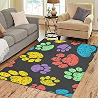 Custom Indoor Soft Carpet Floor Rug Mat Area Rug 7 x 5 Paw Print