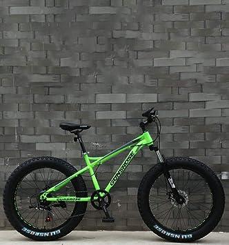 QZ Fat Tire Adulto Bicicleta de montaña, Marco Doble Freno de Disco de Acero de Alto Carbono/Bicicletas Cruiser, Playa de Motos de Nieve Bicicletas, 26 Pulgadas de Ruedas: Amazon.es: Deportes y aire