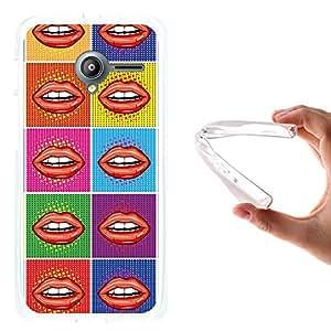 WoowCase - Funda Gel Flexible { Vodafone Smart Speed 6 } Arte Pop Labios Sexy Carcasa Case Silicona TPU Suave