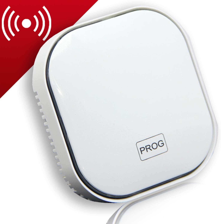 Natural Gas Detector,Propane Detectors for Home,Natural Gas Propane Leak Alarm for Home Kitchen, High Sensitivity Natural Gas Propane Leak Detection (Light White)
