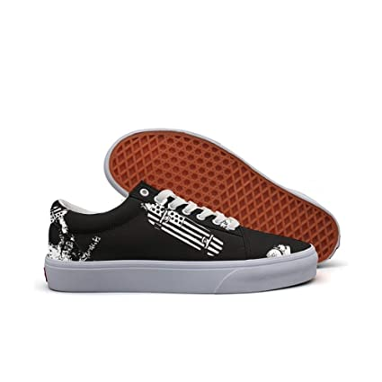 womens Skateboarding Shoes Canvas astronaut skateboarding flag Sport Sneaker
