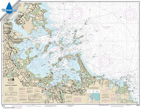 Paradise Cay Publications NOAA Chart 13270: Boston Harbor, 35.1 X 45.6, WATERPROOF - Noaa Marine Charts