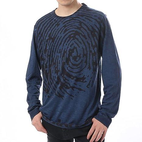 Desigual TS truyne Camiseta Manga Larga Hombre, Turquesa, Medium