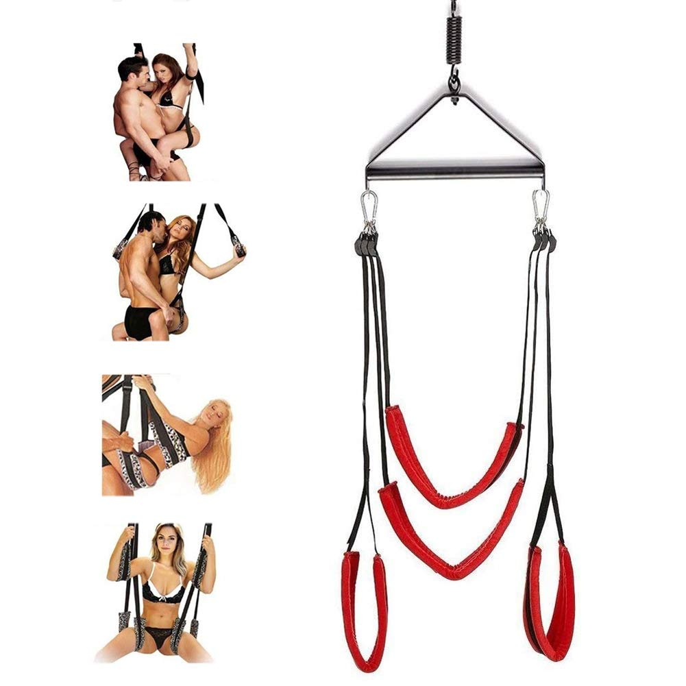 Sexbaby Adult Sex Swing Bondage with Steel Triangle Frame Fetish Restraint by Sexbaby